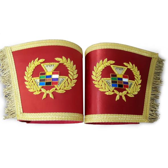Past High Priest Gauntlet Cuff Set, Royal Arch PHP Masonic Cuffs
