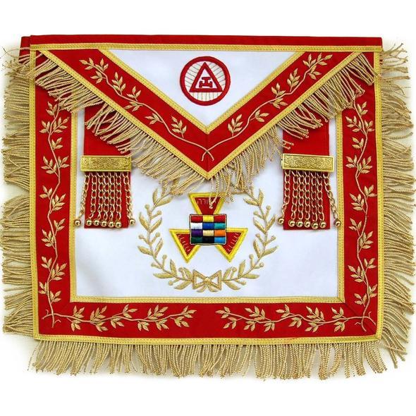 Masonic Royal Arch Grand High Priest Apron Wreath Bullion Hand Embroidered